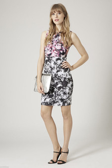 Topshop PETITE Photo Floral Dress