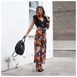 Zara Floral Print Trousers