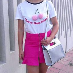 Zara Pink Mini Skirt With Zip
