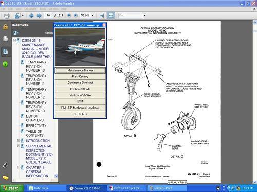 Cessna 421 service manual