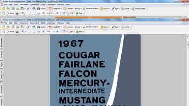 Ford Mercury 1967 factory service repair shop manual mustang cougar fairlane falcon