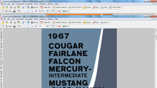 Ford Mercury 1967 factory service repair shop manual mustang cougar fairlane falcon