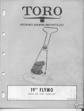 Toro Flymo mower parts manual download