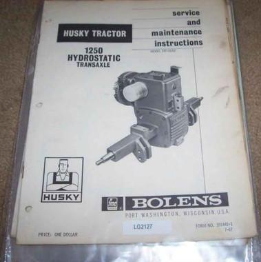 Sundstrand 15 transaxle hydrostatic repair manual bolens wheel horse