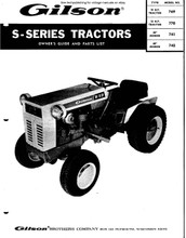 Gilson vintage S series tractor maintenance n parts manual 769 770