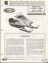 Columbia snowmobile factory owners and parts manuals SST n C series