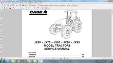 Case JX series tractors service manual 60 70 80 90 95