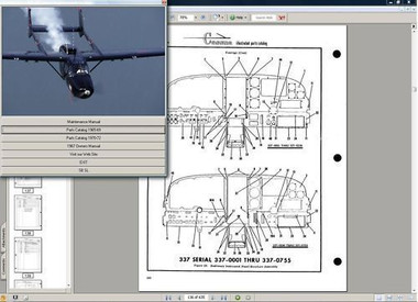 Cessna 336 service maintenance manual n engine 1964 skymaster D238-2-13