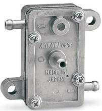 This MIKUNI fuel pump replaces old round type pumps. * Flush mount * Square style with one (1) outlet * Flow rate: 14 litres/hr