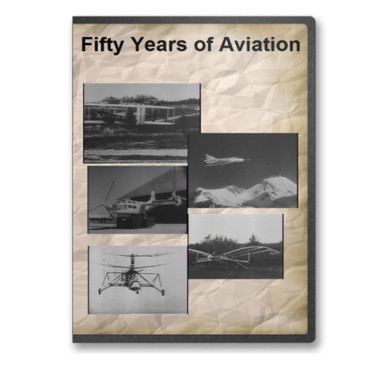 Fifty Years of Aviation Documentary DVD  The Big Picture documentary Fifty Years of Aviation is a salute to the rapid progress of aviation from its humble beginnings to modern military aircraft. The films includes fascinating historical footage from 1907 when the United States army purchased its first military plane and continues with the rapid progression of planes and helicopters that make up the Army's air fleet. Also seen in this video is the Army's Delackner Aerocycle and the Hiller Flying Platform and pictures of the proposed Aerial Assault Vehicle and the Aerial Jeep.