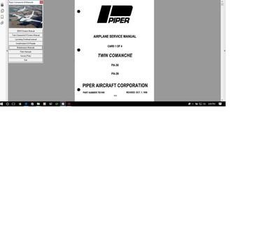 Piper PA30 / PA39 twin comanche service maintenance library