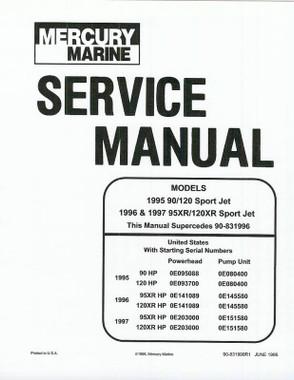 Mercury Marine 240 EFI Jet Drive Service Manual 90-884822