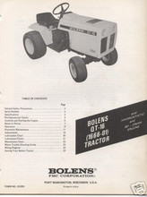 Bolens QT-16 tractor manuals service parts owners