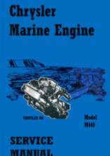 Chrysler Marine Repair manual M 383 M 400 M 440 engine and transmission service