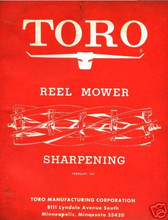 Toro reel mower sharpening manual. Learn how to correctly sharpen the rel blades on any reel type mower