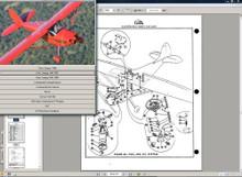 cessna 170 parts service manual set + engine 1948 - 1956