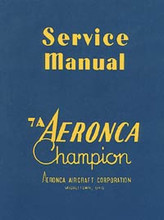 7A Champion maintenance + engine service manuals Champ aircraft