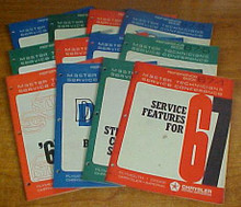 1967 DODGE MOPAR MASTER TECHNICIAN REFERENCE MANUAL SET