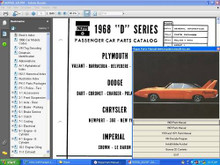 Mopar dodge plymouth chrysler parts manuals 68-71