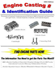 """Includes Hundreds of Block Numbers, Cylinder Head Numbers, Crankshaft Numbers, and Connecting Rod Numbers.  IMPORT & DOMESTIC Manufacturers  4 Cylinder, 6 Cylinder, and 8 Cylinder  Years start around 1975 up to 2000  LOOK! - Includes Bore & Stroke Specifications for each Engine  Brand New Book with 117 Pages, Comb Bound 8.5"""" X 11"""" Pages - TONS OF INFO!  Great for Swap Meets, Junkyards, Professional Mechanics, Do-it-Yourself Mechanic, Machine Shops, or ANYONE who needs to reference engine part #'s for blocks, cranks, rods, and heads!!!  Now you can I.D. Blocks, Cylinder Heads, Crankshafts, Connecting Rods and Lots More (by cross-referencing, matching similar engines, etc.) from the following: Domestic Vehicles: AMC, Buick, Cadillac, Chevrolet, Chrysler, Dodge, Ford, GM, International, Jeep, Lincoln, Mercury, Oldsmobile, Pontiac Import Vehicles: Honda, Hyundai, Isuzu, Mazda, Mitsubishi, Nissan, Suzuki, and Toyota.  You need this book!!!  With this book you will be able to identify the original parts listed above by Part Numbers or Casting Number. A wealth of information in this Great Collection."""