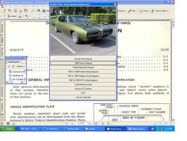 Pontiac master service & parts manual 1967 1968 1969