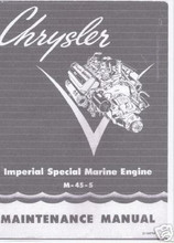 Chrysler M45-S special marine hemi engine service manual