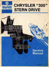 Chrysler marine Dana stern drive IO repair service manual