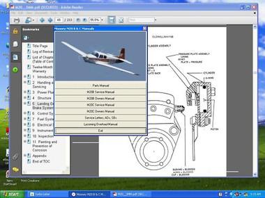 Mooney aircraft B & C service maintenance repair manual set
