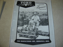 "Toro 76"" series 3 professional mower owners manual parts manual"