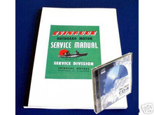 Evinrude 9.5 HP outboard motor service repair manual 1973 sportwin