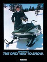 kawasaki Invader  snowmobile service manual  1978