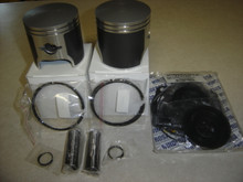 This is a aftermarket  kit featuring 2 new pistons, oem style w/dual rings, pins, circlips as shown. This set exceeds the MFGs specs , Designed to replace the oem in all respects.  Smoother running due to better balance, stonger and better heat transfer. We run em in our trikes and use them in our shop for the past 10+ years  This is set is for 68  mm std bore 440 kawasaki twin.Kawasaki 440 UL engine piston  for ultralight aircraft engine std bore