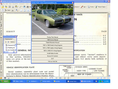 Pontiac master service repair manual 1972