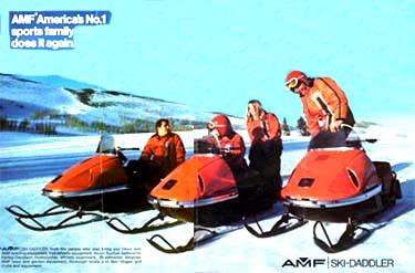 AMF snowmobile service n parts manual 1965 - 1969 Ski Daddler