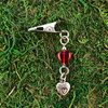 HOTI Hemp Handmade Red Glass Heart Hearts Metal Bead Antique Silver Roach Clip Dangling Metal Women's Ladies Woman Her Unisex Men's Man Charm Handcrafted Made in Toronto Made in Ontario Made in Canada Charming Collection Marijuana Weed 420 Alligator Clips Blunt Joint Roach Holder Mary Jane Pot Cannabis Clip It Dope Gifts Stoner Gift Toronto Ontario Canada Canadian