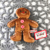 """Douglas Cuddle Toys Crispy Gingerbread Boy Cookie Rare Brown 6.5"""" Christmas Festive Winter Holiday Red White Peppermint Candy Buttons Frosting Fuzzy Furry Icing Embroidered Frosted Ultra Soft Plush Stuffed Cuddly Toy 657.1"""