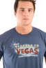 Be As You Are Las Vegas What Happens Mens Blue Tee Shirt Facebook T-Shirt Marquee Men's Top Front Zoom