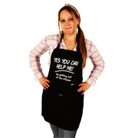 Grimm Yes You Can Help Me! By Getting Out Of The Kitchen Black Adjustable Apron Front Pocket