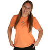 Life is Good Marmalade Bright Orange Jackie Running Tee Crusher T-Shirt Top Run Jog Jogging
