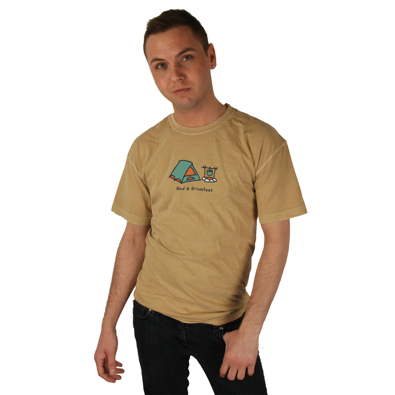 ddec925e383ff4 ... Life is Good Ford Brown Bed & Breakfast Tent Crusher T-Shirt. Loading  zoom