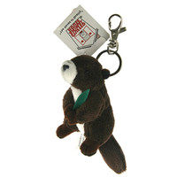 "Stuffed Animal House 3.5""  Sitting Marmot Keychain Wild Zipper Pull Mini Key Chain Tiny Soft Furry Fuzzy Clip Backpack Critter"