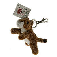 "Stuffed Animal House 4.5""  Striding Cougar Keychain Wild Zipper Pull Mini Key Chain Tiny Soft Furry Fuzzy Clip Backpack Critter"