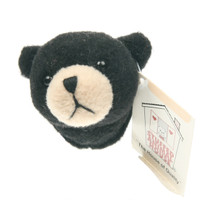 "Stuffed Animal House 2"" Black Bear Head Fridge Refrigerator Locker Magnet Mini Magnetic Walltoy Wild Tiny Toy Small Soft Furry Fuzzy Plush Critter Canadian North American Wildlife"