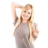 Be As You Are Grey Peace Love Happy Hour Gray Martini Tee Women's Short Sleeve T-Shirt Shirt Ladies Top Zoom