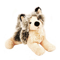 "Douglas Cuddle Toy 9"" Howl Wolf Pup Gray Grey Tan Kohair Wildlife  Wild Plush Stuffed Animal Toy 3756"