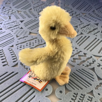 "Douglas Cuddle Toy 6"" Slicker Baby Duck Light Yellow Furry Soft Plush Stuffed Animal Barnyard Farm Rare Toy 1506 Easter"