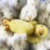 "Douglas Cuddle Toy 6"" Slicker Baby Duck Light Yellow Furry Soft Plush Stuffed Animal Barnyard Farm Rare Toy 1506 Angora Bunnies"