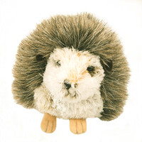 "Douglas Cuddle Toy 7"" Hillary Hedgehog RARE Grey Brown Tan Yellow White Pet Fuzzy Furry Soft Plush Stuffed Animal 267"