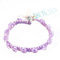 HOTI Hemp Handmade Brilliant Butterflies Light Purple Hemp Swarovski Crystal Purple Beads Ladies Womens Beaded Crystals Bracelet Made in Canada Hand Crafted Made in Toronto Made in Ontario Boho Chic Clasp-It Lobster Clasp Canadian Toronto Ontario Canada