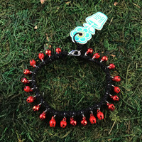 HOTI Hemp Handmade Hemp Anklet Metal Metallic Mini Steel Jingle Bells Ring My Bell Belles Collection Black Red Custom Ladies Women's Girls Woman Ankle Bracelet Hand Crafted Made in Canada Made in Toronto Made in Ontario Bali Boho Chic Clasp-It Lobster Claw Clasp Removable Toronto Ontario Canada Canadian